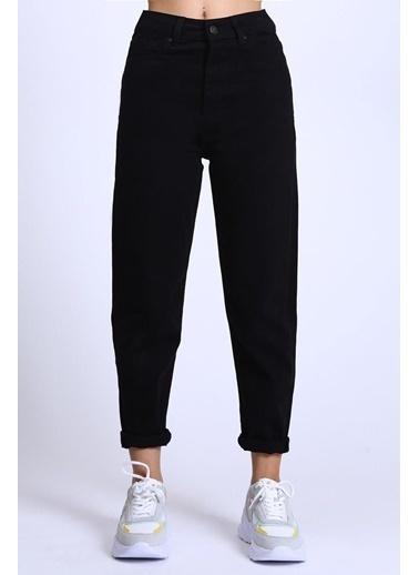 Female Project Siyah Yüksek Bel Mom Jeans Siyah
